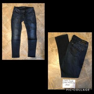 Silver Aiko Mid Skinny Jeans